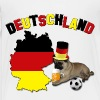 Germany Football World Cup Pug Dog - Toddler Premium T-Shirt