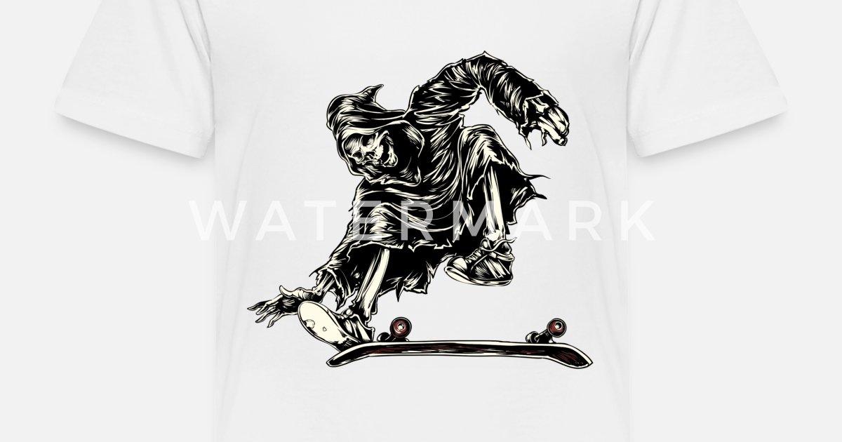Skate Or Die Kids Long Sleeve T-shirt Skateboard Skater Kickflip Halfpipe Sk8 T-shirts, Tops & Shirts