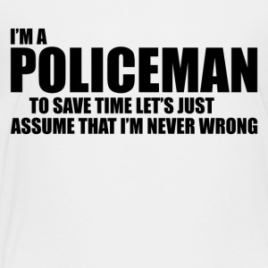 Policeman - Toddler Premium T-Shirt