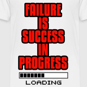 Motivation Design - Failure is Success in Progress - Toddler Premium T-Shirt