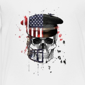 American Flag Military Cap Skull collection - Toddler Premium T-Shirt