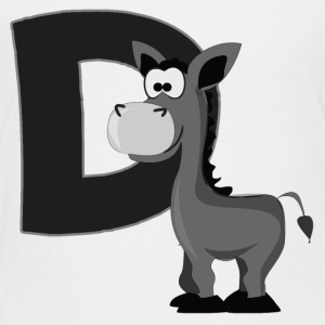 D Is For Donkey - Toddler Premium T-Shirt