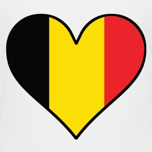 Belgian Flag Heart - Toddler Premium T-Shirt