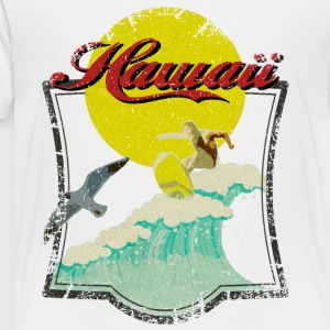 Vintage Hawaiian Surfer - Toddler Premium T-Shirt