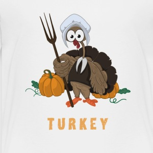 turkey thanksgiving Farmer Meal Humor pumpkin - Toddler Premium T-Shirt