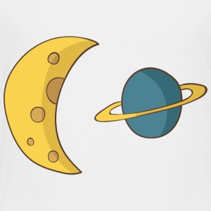 Moon and Planet - Toddler Premium T-Shirt
