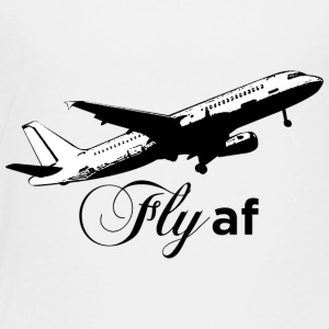 Fly af - Airplane Design (Black) - Toddler Premium T-Shirt