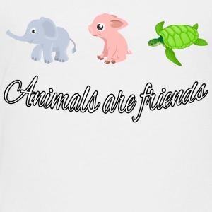 Animals are friends - Toddler Premium T-Shirt