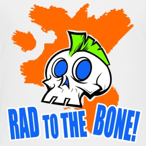 Rad To The Bone Mohawk Skull Shirt - Toddler Premium T-Shirt