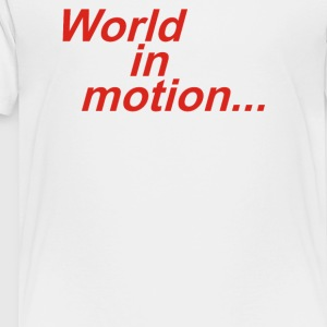 WORLD IN MOTION ENGLAND ITALIA 90 WORLD CUP FOOTBA - Toddler Premium T-Shirt
