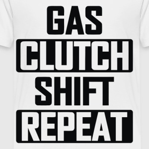 Gas Clutch Shift Repeat - Toddler Premium T-Shirt