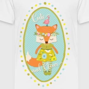 Cute and Clever Fox - Toddler Premium T-Shirt
