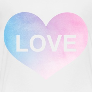 Watercolor Love Heart Shirt - Toddler Premium T-Shirt