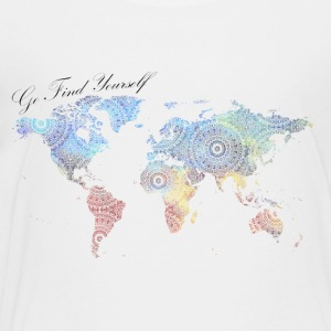 World Map as a Mandala - Go find yourself - Toddler Premium T-Shirt