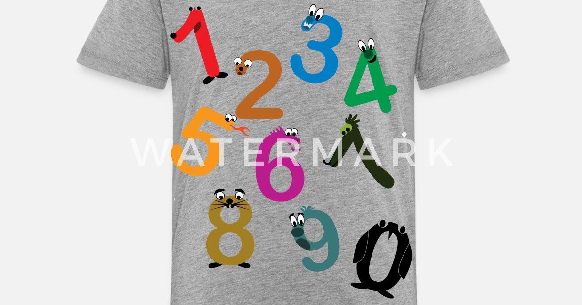 c76dfbd0 Kids Fun Numbers Toddler Premium T-Shirt | Spreadshirt