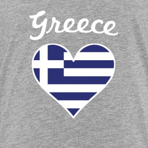 Greece Flag Heart - Toddler Premium T-Shirt
