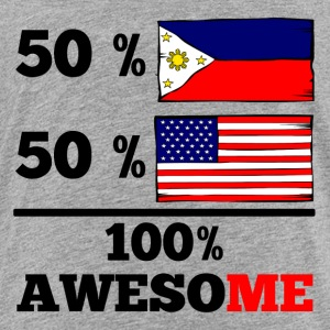 Half Filipino Half American 100% Awesome - Toddler Premium T-Shirt