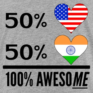 Half American Half Indian 100% Awesome - Toddler Premium T-Shirt