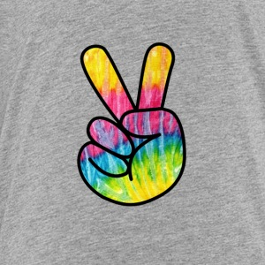 Peace Sign Hand -Psychedelic Finger T-Shirt - Toddler Premium T-Shirt