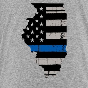 Illinois Thin Blue Line Police Cop Wife Girlfriend - Toddler Premium T-Shirt