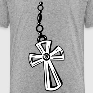 Cross, Crucifix with gemstone. - Toddler Premium T-Shirt