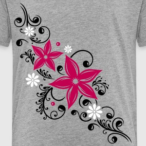 Flowers with filigree floral ornament - Toddler Premium T-Shirt