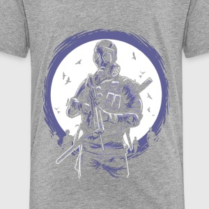 Gas Mask Soldier of the apocalypse. End is near. - Toddler Premium T-Shirt