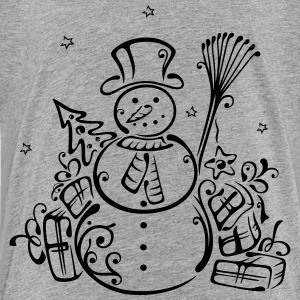 Snowman with christmas tree and gifts. - Toddler Premium T-Shirt