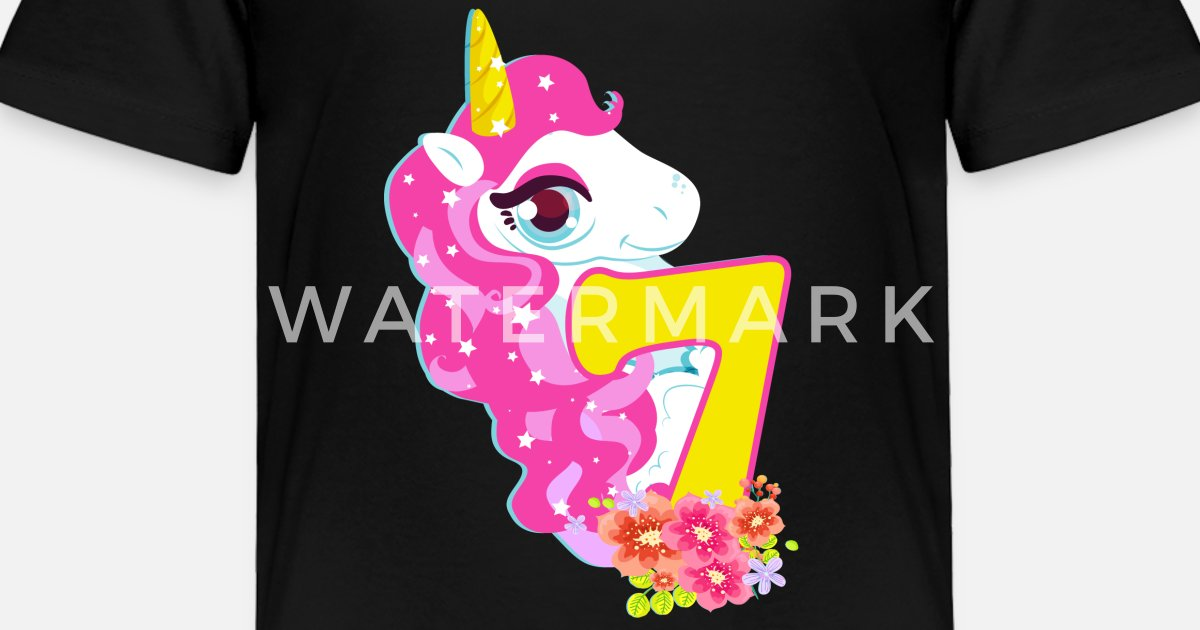 Toddler Premium T ShirtUnicorn Birthday Seventh Shirt