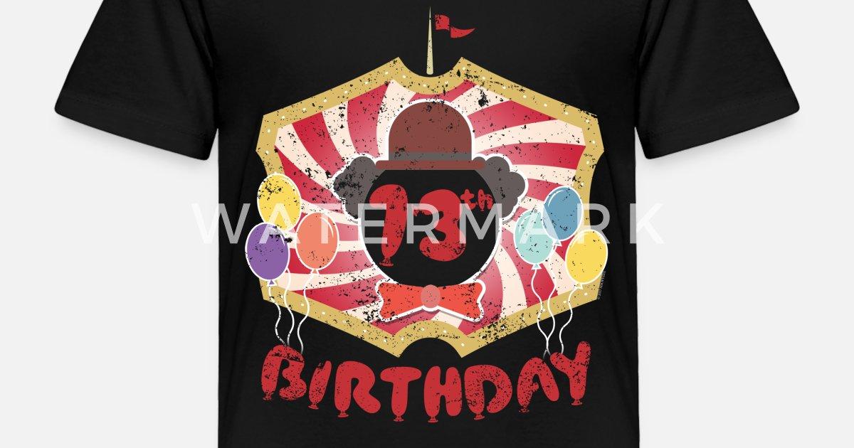 Kids Clown Birthday Party 13th Toddler Premium T Shirt