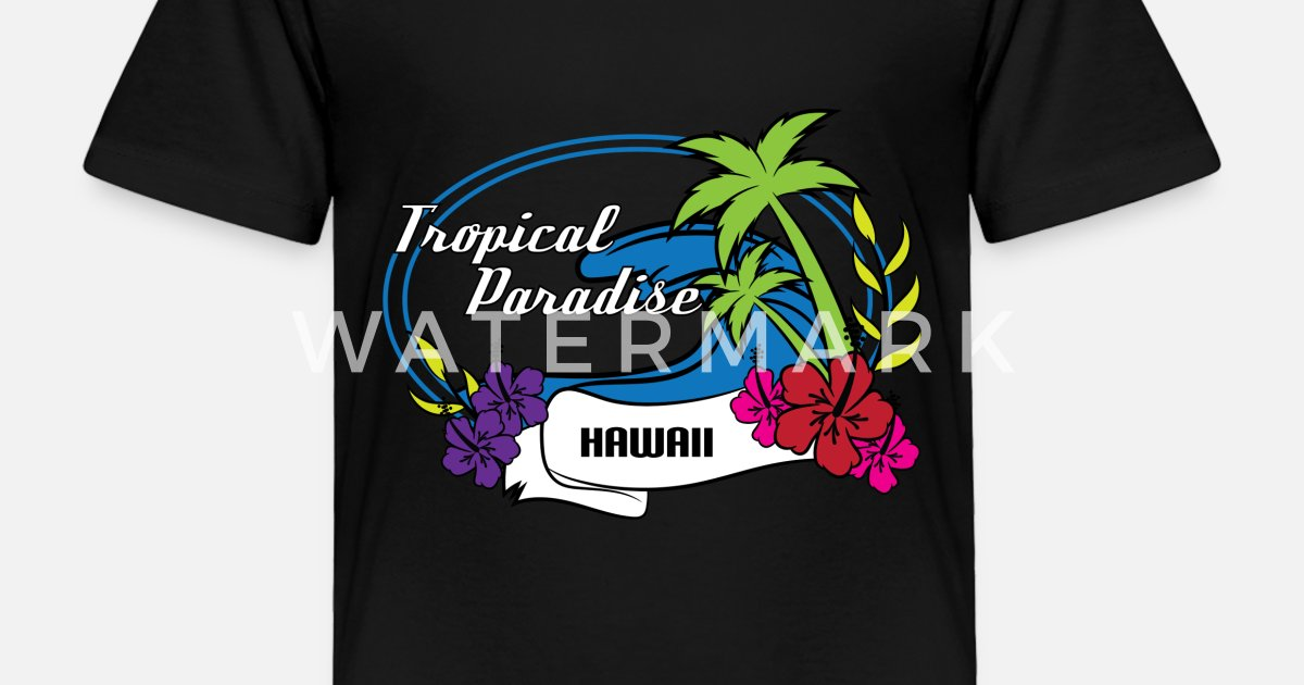 d2845e49509afa Toddler Premium T-ShirtFresh Hawaiian Style Tshirt Design Tropical paradise