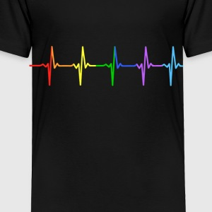 Rainbow Pulse Hearbeat LGBT - Toddler Premium T-Shirt