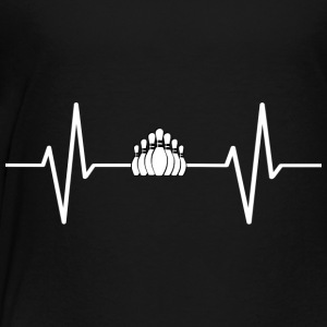My heart beats for bowling! gift - Toddler Premium T-Shirt