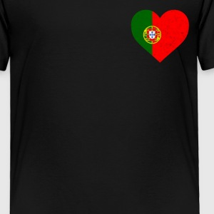 Portugal Flag Shirt Heart - Portuguese Shirt - Toddler Premium T-Shirt