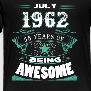 July 1962 - 55 years of being awesome - Toddler Premium T-Shirt