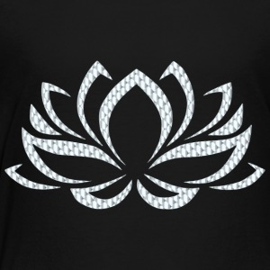 Silver Lotus Flower - Toddler Premium T-Shirt