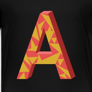 Letter A 3D Design - Toddler Premium T-Shirt