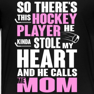 Hockey Player T Shirt - Toddler Premium T-Shirt