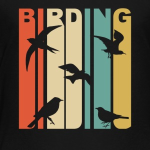 Vintage Birding Birdwatching Graphic - Toddler Premium T-Shirt