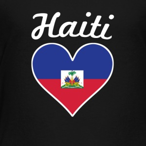 Haiti Flag Heart - Toddler Premium T-Shirt