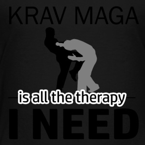 Krav Maga is my therapy - Toddler Premium T-Shirt