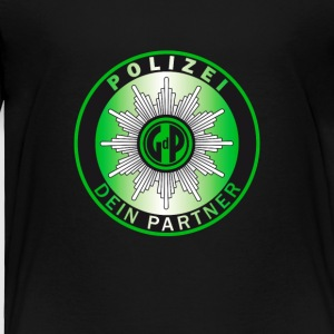 polizei green Police Slogan german Partner fun hum - Toddler Premium T-Shirt