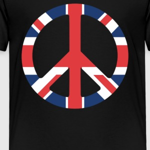 United Kingdom Peace Sign - Toddler Premium T-Shirt