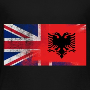 British Albanian Half Albania Half UK Flag - Toddler Premium T-Shirt