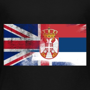 British Serbian Half Serbia Half UK Flag - Toddler Premium T-Shirt