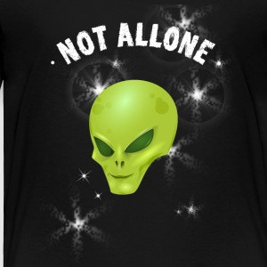 alien not alone ufo sci Fi universe space emoticon - Toddler Premium T-Shirt