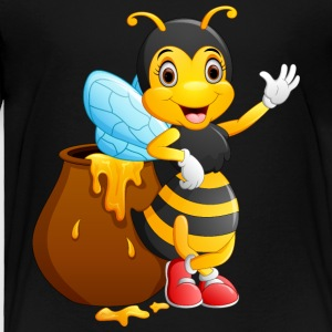 Bee insect honey wildlife vector image smile cool - Toddler Premium T-Shirt