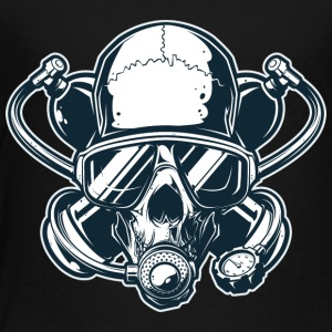 Skull_in_gas_mask - Toddler Premium T-Shirt