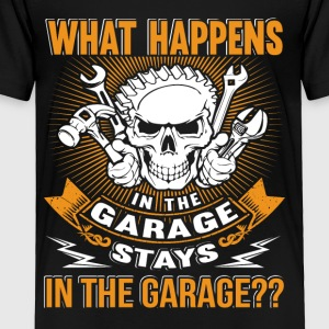 Mechanic What happens in the garage - Toddler Premium T-Shirt