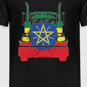 Ethiopian Trucker Shirt Ethiopia Flag Trucker Dad Shirt - Toddler Premium T-Shirt